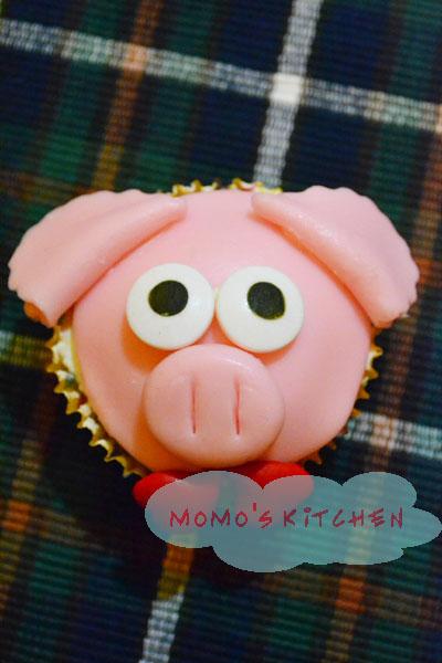 小动物杯子蛋糕系列之猪先生